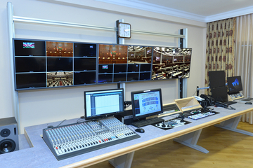 Custom Consoles Module-R and MediaWall chosen for Azerbaijan Parliamentary Television