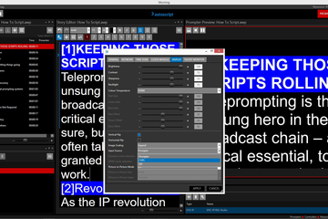 Autoscript WinPlus-IP delivers prompter control and workflow efficiency