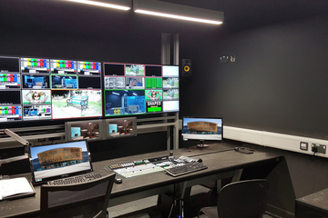Custom Consoles Module-R Desks and MediaWall Monitor Display Mounts Selected for Cardiff University School of Journalism, Media & Cultural Studies