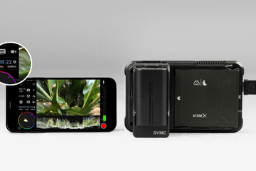 Atomos AtomX SYNC module for Ninja V delivers wireless timecode