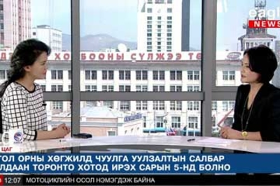 Eagle News uses Aviwest equipment to present updated Mongolian Parliament Election news