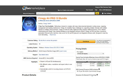 Cinegy Air PRO now available on AWS Marketplace