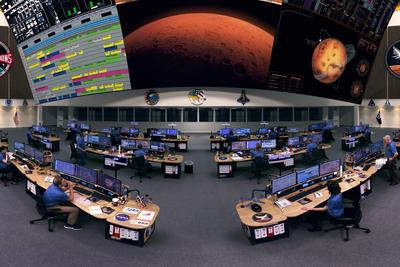 Custom Consoles EditOne desks in control for 'Mars 1001'