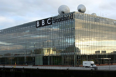Custom Consoles Desk and Media Wall, chosen for BCR Project at BBC Scotland