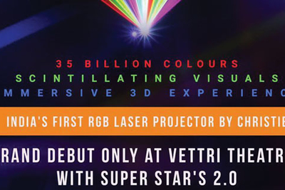 Vettri Theatres first to deploy Christie CP4325-RGB RealLaser cinema projector