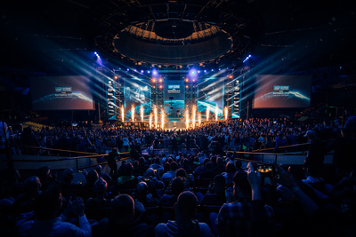 Robycam in action at the ESL One Katowice 2019 eSports event