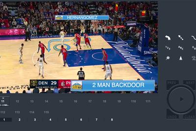 Washington Wizards use ChyronHego Coach Paint for telestration