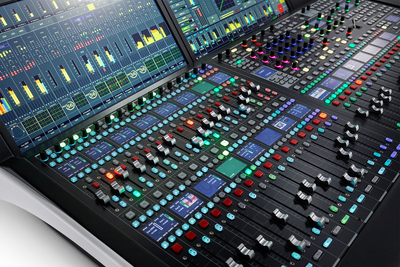 Lawo introduces mc²56 production console dual fader, at NAB Show 2019
