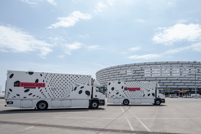 Baku Media Center uses Broadcast Solutions OB trucks at UEFA Europa League Final