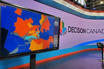 Bannister Lake Delivers Graphic Solutions for Canadian Federal Election Coverage