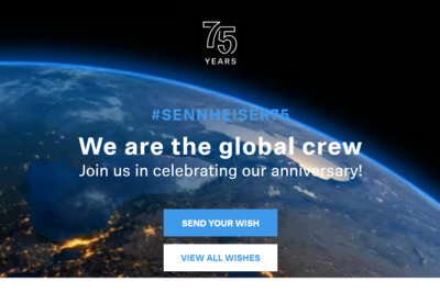 Sennheiser Celebrates Their 75th Anniversary