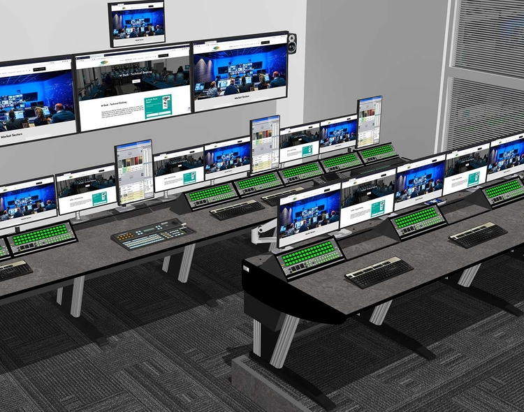 Custom Consoles Module-R Desks Chosen for One of the World's Largest News Agencies