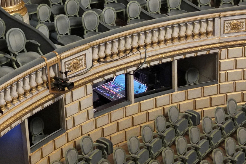 Grand theatre hall, Opera national de bordeaux, France, LAWO, Lawo console, Mc²36, Audio mixing console, Ravenna, Sound, Music, Classical music, Microphone, Stagebox, Audio matrix, Console, Aoip, Sound quality, Orchestra