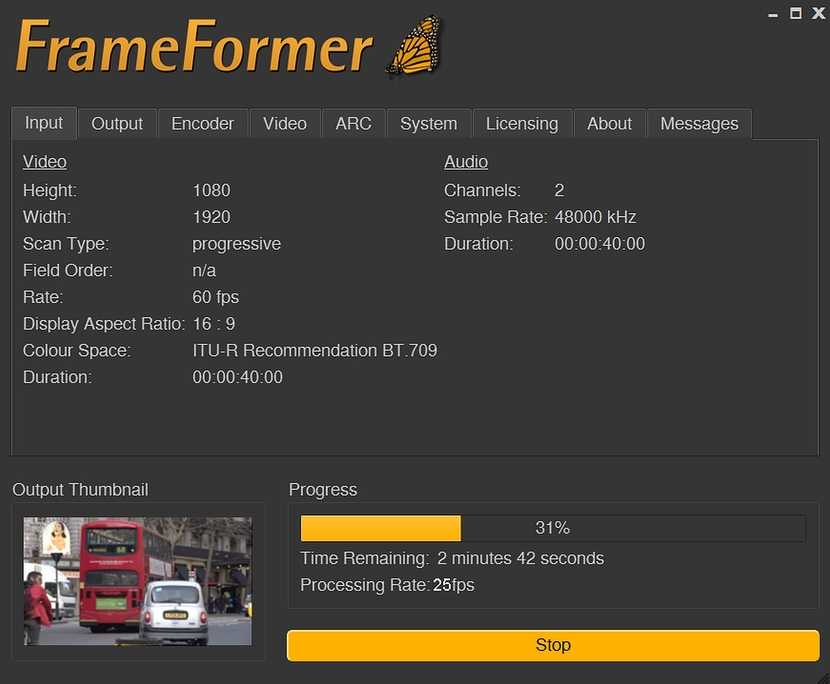 InSync's FrameFormer  frame rate converter  plug-in or Adobe Premiere Pro Mac users