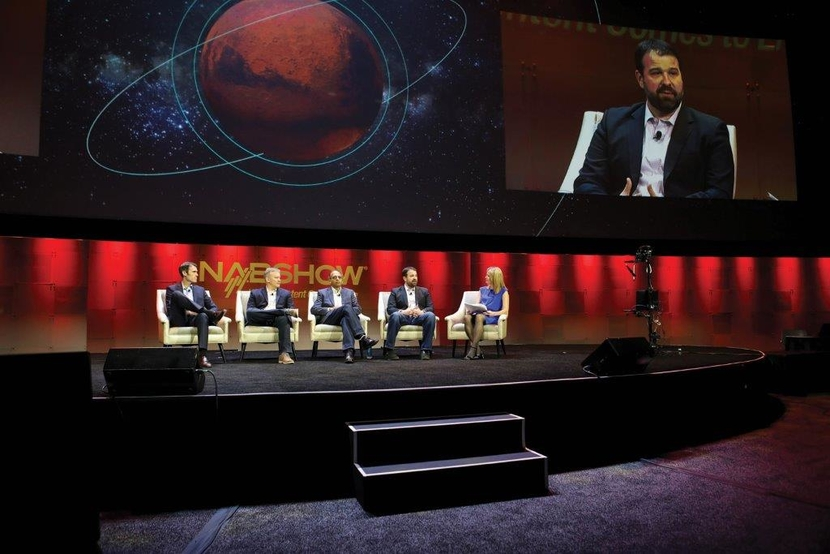 Race on the Red Planet panel at NAB Show 2018- Robert Hogg, Jeff Dow, BA Winston, Michelle Munson