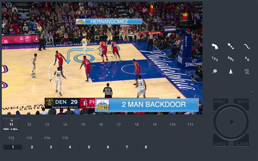 ChyronHego's Coach Paint telestration tool used by Washington Wizards