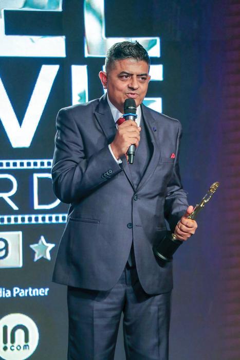 Gajraj Rao, winner of Best Actor for Badhaai Ho, at News18 Reel Awards 2019