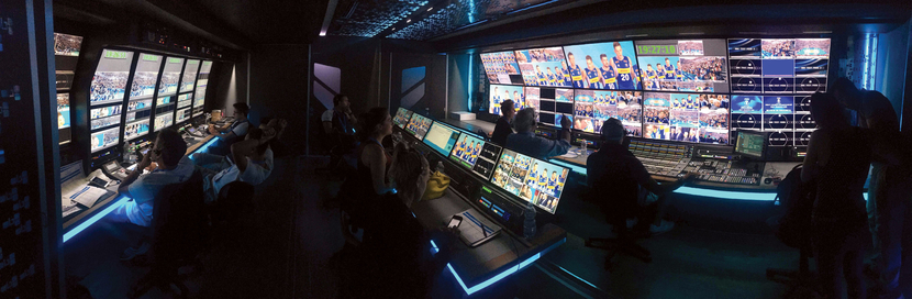 Global Production OB truck interior