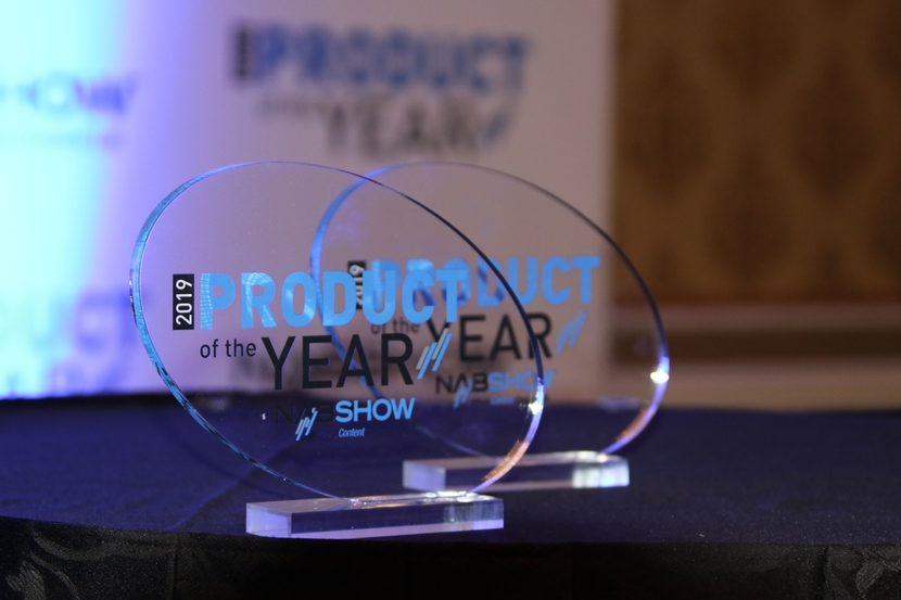 product of the Year trophy, at NAB Show 2019