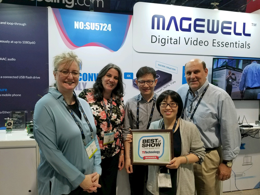 Magewell NDI converters win 'Best of Show' award at NAB Show 2019