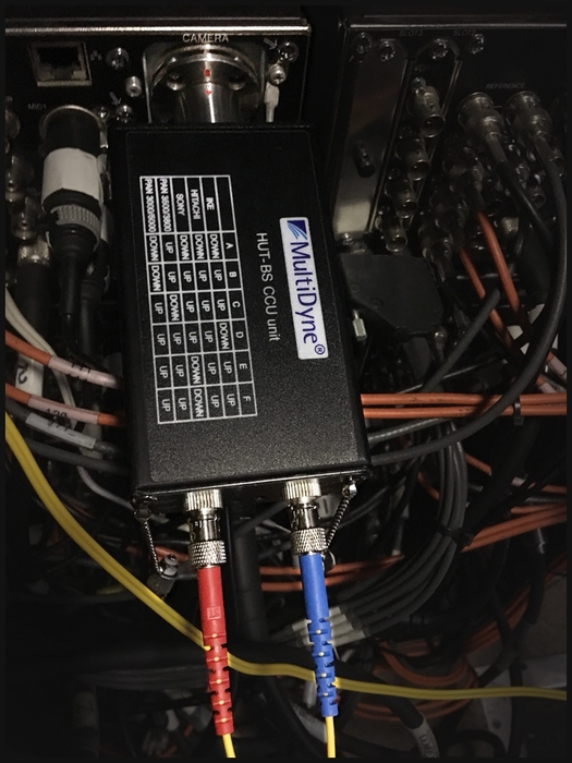 MultiDyne SMPTE HUT camera transceivers used by Videoworks