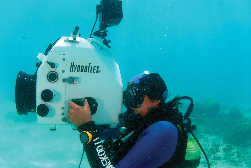 Priya Seth doing what she loves the most - underwater cinematography