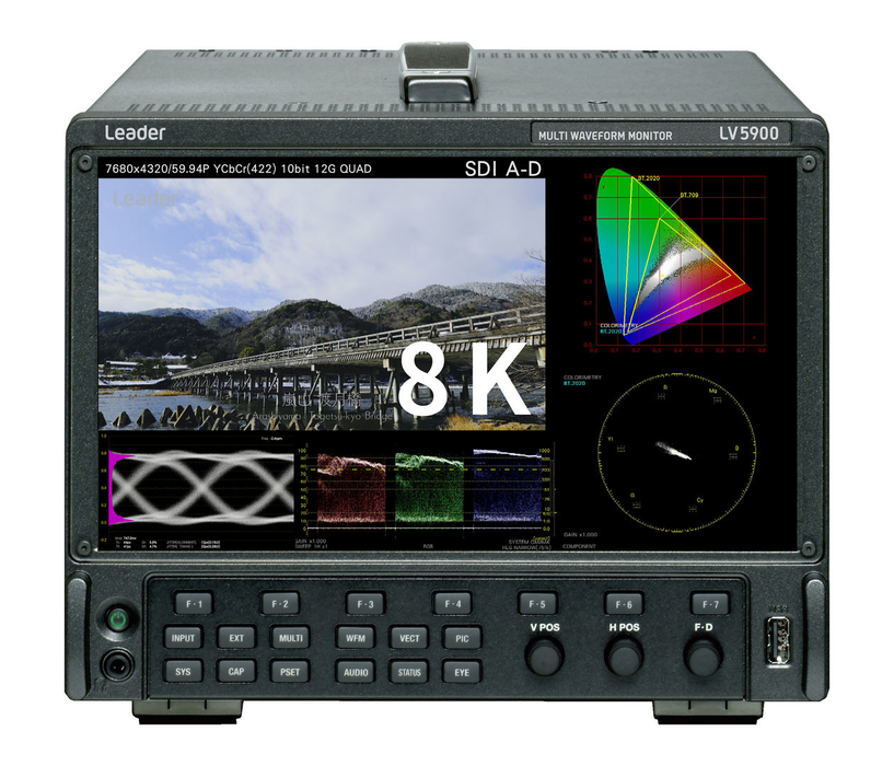 Leader LV5900 8K waveform monitor