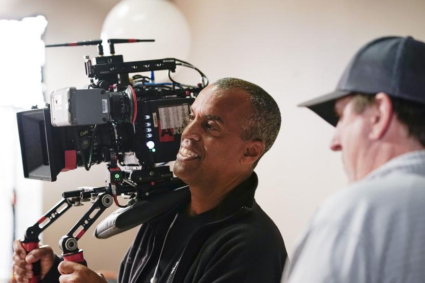 On the set of 'David Makes Man' Photo courtesy: Rod Millington