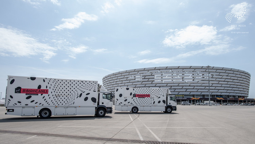 Baku Media Center uses Broadcast Solutions OB trucks at UEFA Europa League Final