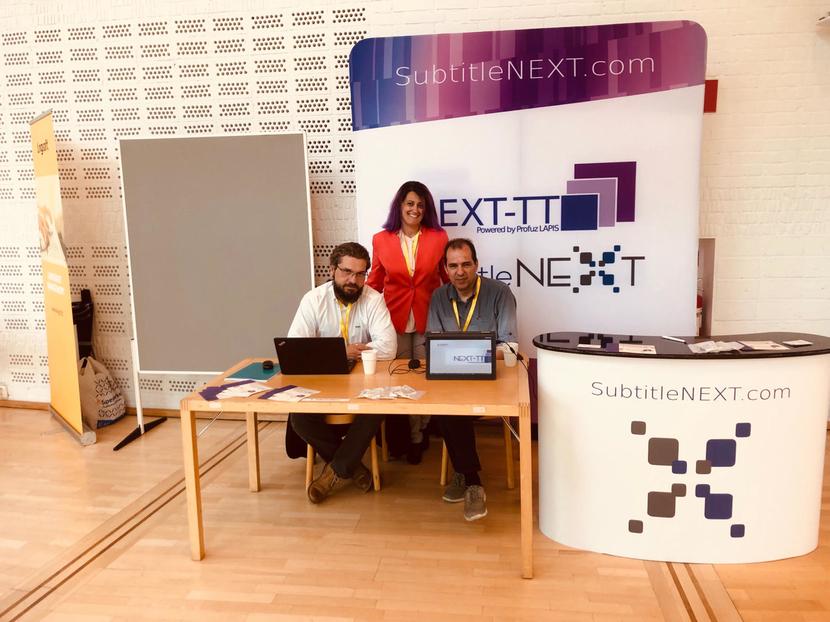 SubtitleNEXT team at Media4all 8 event