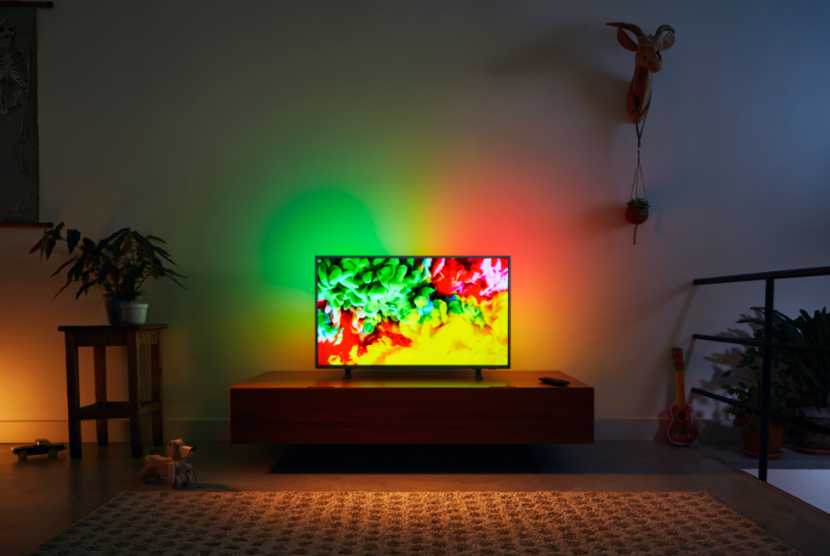 "TPV Technology launches 65"" Philps Ambilight TV in Chennai"