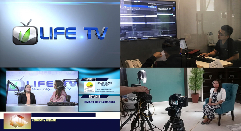 A montage of Life TV Asia