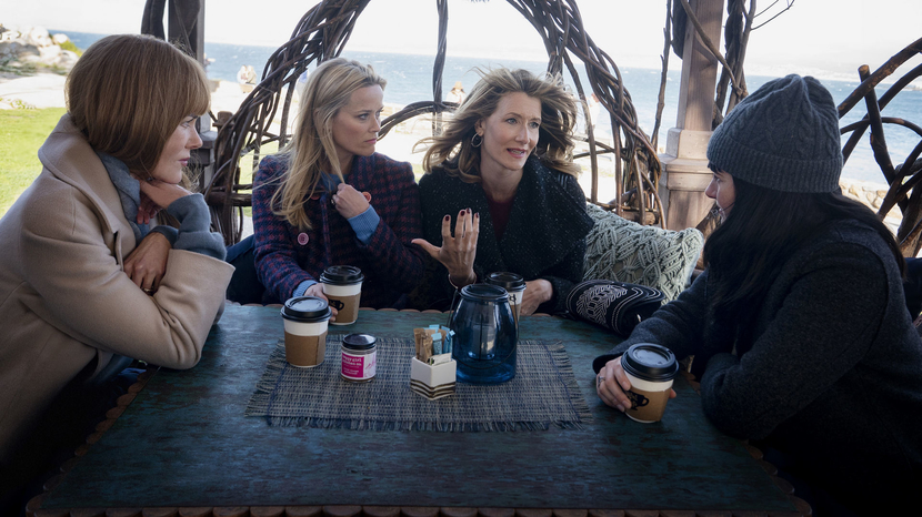 Nicole Kidman, Reese Witherspoon, Laura Dern, Shailene Woodley on the set of Big Little Lies