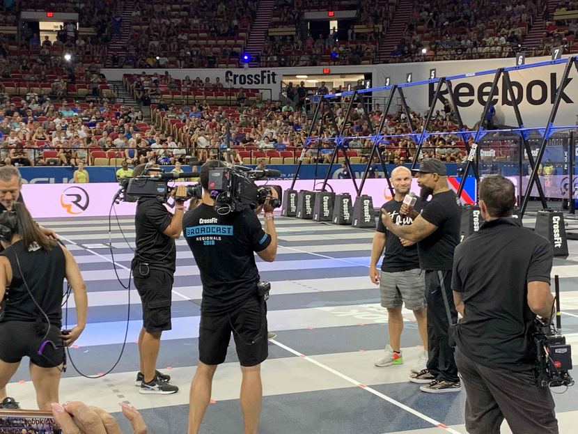 RF cameras deployed by CP Communications at CrossFit games
