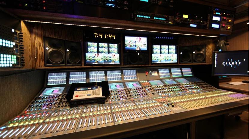 Calrec mixer truck at the VETV studio