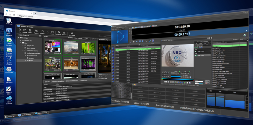 PlayBox Neo's  Cloud2TV and Channel-in-a-Box media playout at IBC2019
