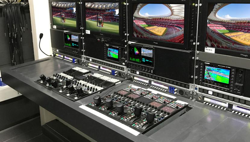 Mediapro UEFA camera control desk