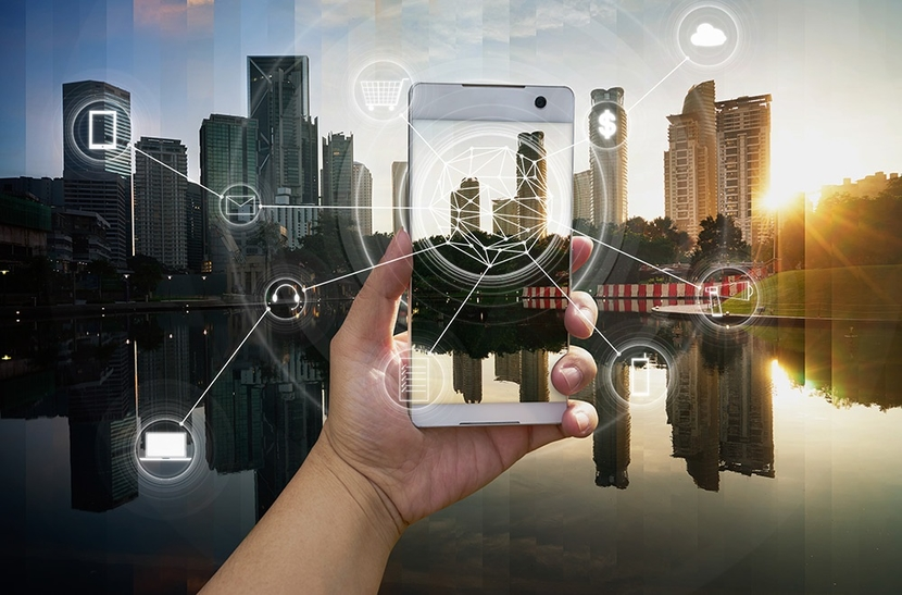 The V-Nova application on a mobile device