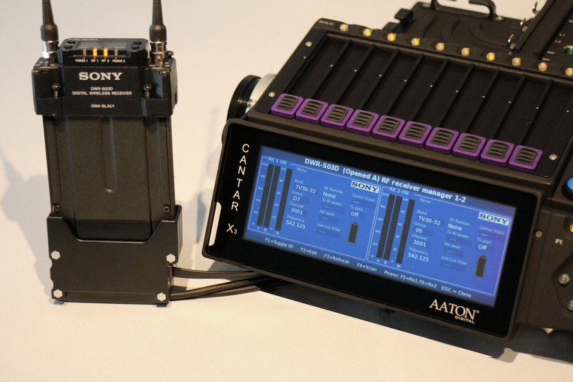 Integration of Sony's wireless system with Aaton igital's CantarX3 multitrack field recorder