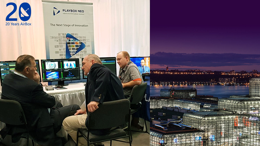 Playbox, Playbox neo, TV Channel Branding, Playout Solutions, NAB New York 2019, Channel-in-a-box, Cloud2tv, East Coast states, Van Duke, UHD