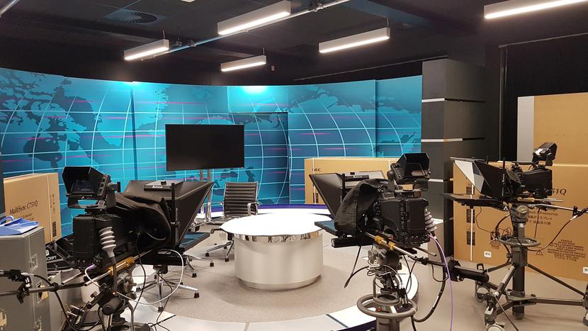 ATG Danmon, News Studio Systems, Cardiff University's School of Journalism, Media and Cultural Studies, BBC, Cardiff University, ATG Danmon  News  Studio, Ross Video Ultrix router, Blackmagic Teranex, Blackmagic URSA Broadcast