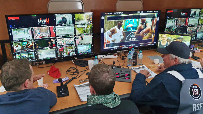 Ineos 159 Challenge Marathon Run, Marathon Run, LiveU, LiveU  Production, Eliud Kipchoge, Vienna, Austria, Kipchoge, OB  truck  based  production, Zion Eilam, ETAS, Alexa equipped  camera  crews, Robert Frosch, LiveU unit, SDI feed, LiveU technology, Production company, IFB
