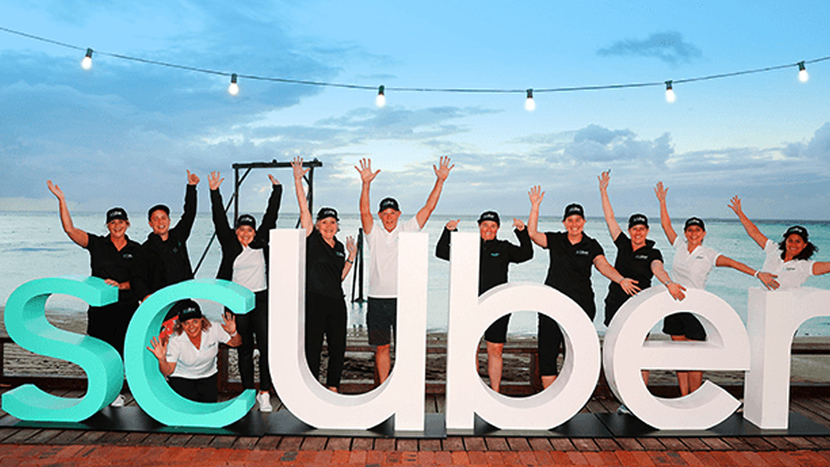 EditShare, The Great Barrier Reef, World's First  Rideshare Submarine, EditShare live production, ScUber', Global tourism campaign, Uber, Queensland, Realtime, Michael Branagh, ScUber campaign, Great Barrier Reef, Heron Island, Big Planet Media, Lindsay McNeill, Bayon Shahidi
