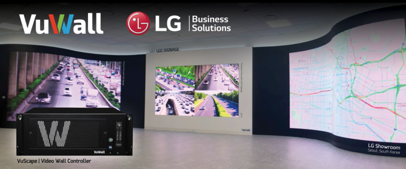 VuWall and LG Integrated Video Wall Solution in the LG Pyeongtaek, South Korea Showroom