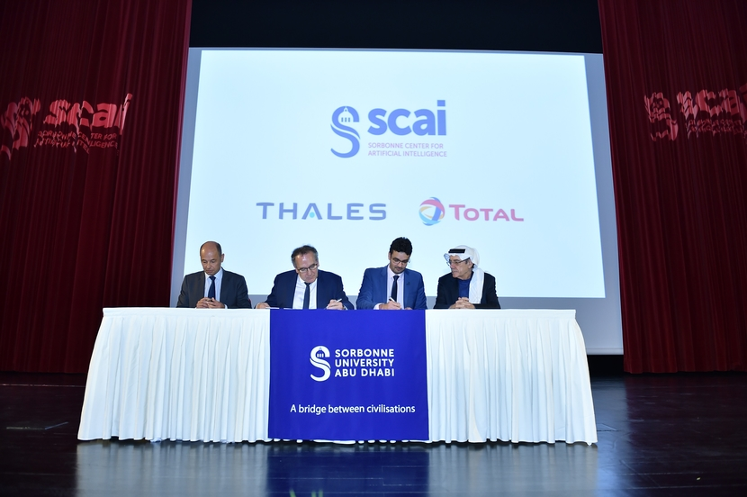 Sorbonne Center, Artificial intelligence, Sorbonne University Abu Dhabi, H.E. Zaki Anwar Nusseibeh, Pascale Sourisse, Thales International, Thales Group, French-Emirati, Executive Education programmes on Artificial Intelligence