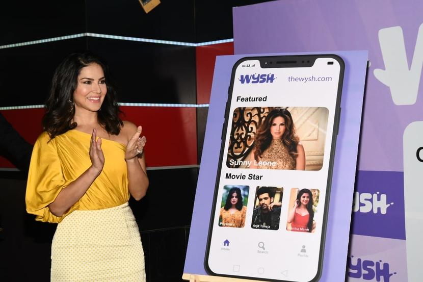 Sunny Leone, Celebrity Engagement Platform, Mahesh Gogineni, Wysh said, Kanika Mann, Priyamani, Arjit Taneja, IIMK, GEMBA, Indian Canadian actress, Wysh
