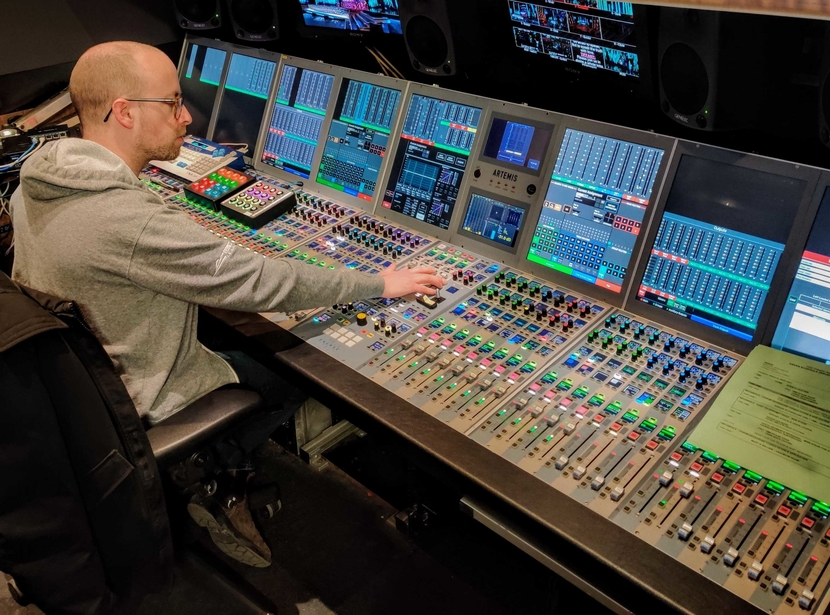 Audio mixing, Sound broadcasting, A craft interview, Calrec, Dome Productions, Console, Of the Lady Gaga production, Calrec Apollo console
