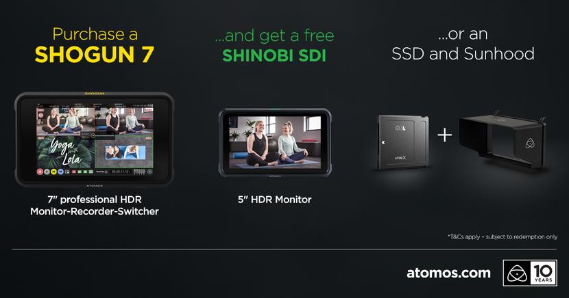 Atomos, Shogun 7, Promotion, HDR monitor, Jeromy Young, Shinobi SDI
