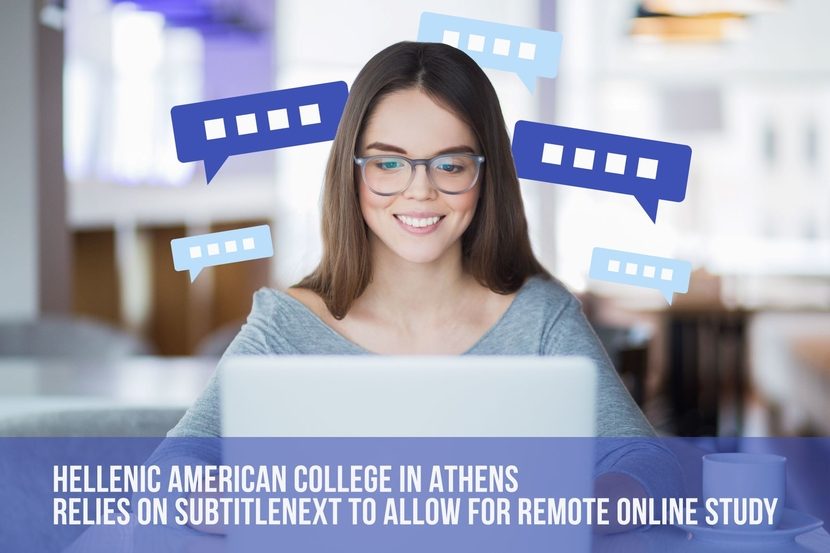 Hellenic, Hellenic American College, Subtitlenext, Athens, Dynamic institution, Audio-visual Translation, MAT students