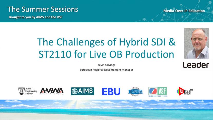 Broadcast, Ob van, Outside broadcast, SMPTE, HDR, Production, EBU, SDI, IP, Media, Moip
